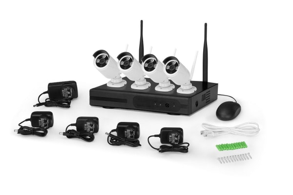 Kogan 1080P 1TB Security System with 4 Wireless Cameras