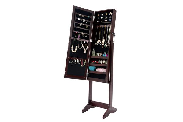 Mirror Jewellery Cabinet JEWLY - Walnut