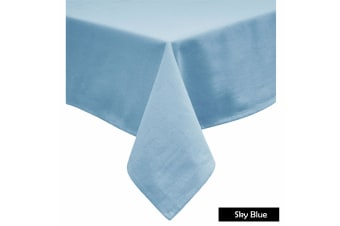 Cotton Blend Table Cloth Sky Blue 170x420cm