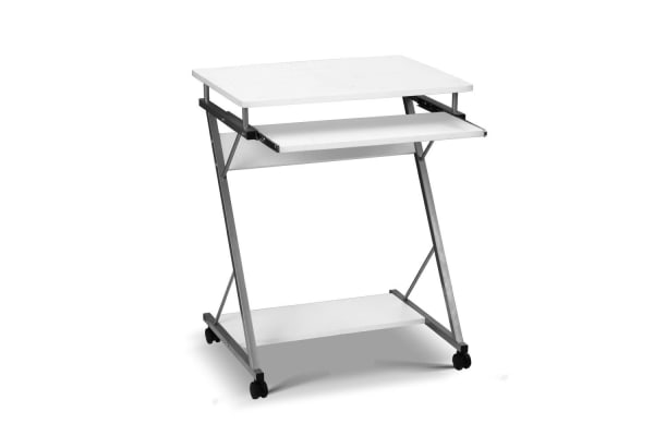Computer Desk with Shelf (White)