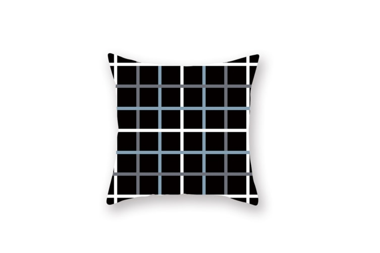 3Pcs Home Geometry Line Pillow Cover Living Room Office Sofa Cushion Cover - 5 Blue 45*45Cm