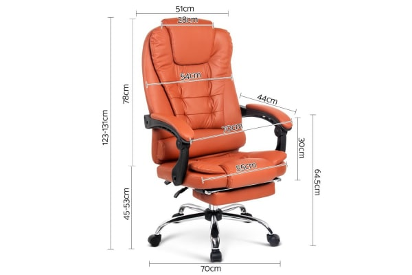 Executive Office Chair with Foot Rest (Amber)