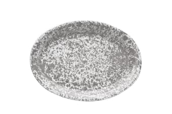 Crow Canyon Oval Platter Grey Marble