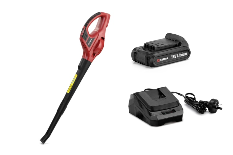 Certa PowerPlus 18V Leaf Blower with bonus Lithium Battery and Charger