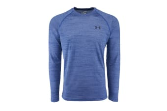 Under Armour Men's Performance L/S Loose Fit Tech Tee (True Blue Spacedye)
