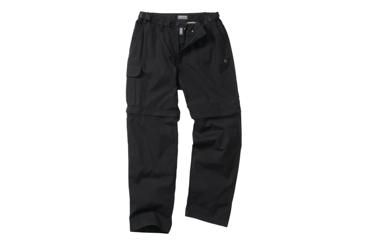 Craghoppers Outdoor Classic Mens Kiwi Convertible Trousers (Black) (40S)