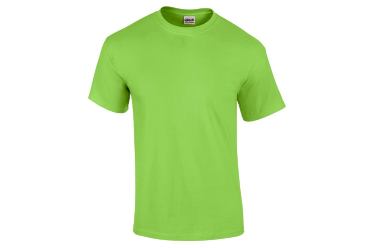 Gildan Mens Ultra Cotton Short Sleeve T-Shirt (Lime) (S)