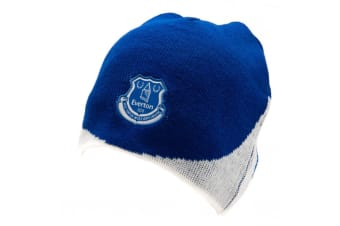 Everton FC Official Adults Unisex Knitted Dome Hat (Blue/White)