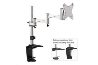 BRATECK LDT02-C012 Tilt/Swivel LCD Desk Mount 360 deg rotation. Arm reach: 429mm Swivel 360deg. Max