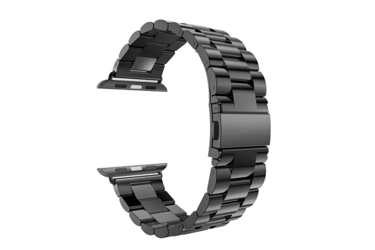Watch Band,Stainless Steel Iwatch Strap Replacement Wristwatch Bracelet For Apple Watch Series 4 Black 44Mm
