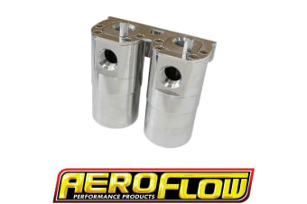 Aeroflow Dual Catch Can -10Orb Air / Oil Seperator Diesel