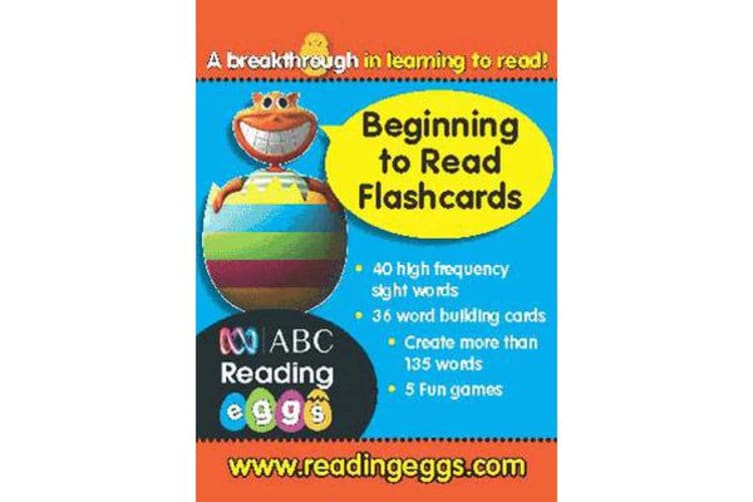 Reading Eggs Ages 4 to 6 Beginning to Read Flashcards
