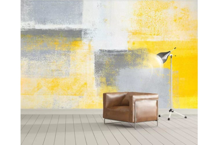 3D Yellow Color Painting 183 Wall Murals Woven paper (need glue), XXXXL 520cm x 290cm (WxH)(205''x114'')
