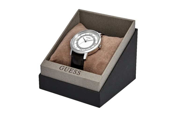 Guess Montauk Croc Leather (Silver/Black)