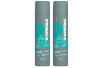 2x Toni & Guy 250ml Matt Texture Spray Dry Shampoo Hair Care/Styling/Cleaning
