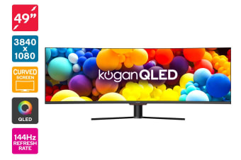 "Kogan QLED 49"" Curved 32:9 Super Ultrawide 144Hz HDR Monitor (3840 x 1080)"