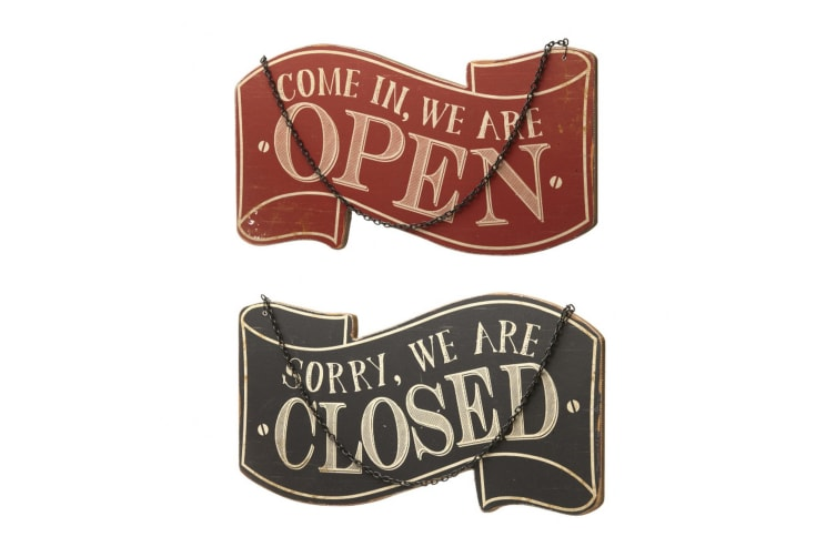 Open/Closed Sign (Black/Red) (30.2 x 0.9 x 27.5cm)