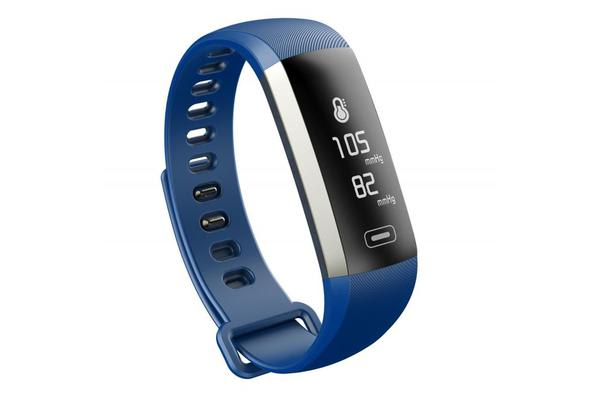 """Bluetooth V4.0 Fitness Band Watch 0.96"""" Oled Heart Rate Blood Oxygen Ip67 Blue"""
