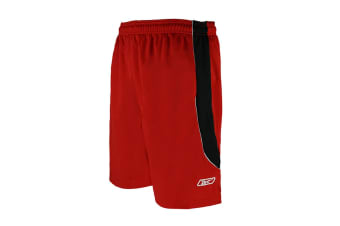 Reebok Men's Two-Toned Athletic Performance Mesh Shorts (Red/Black)