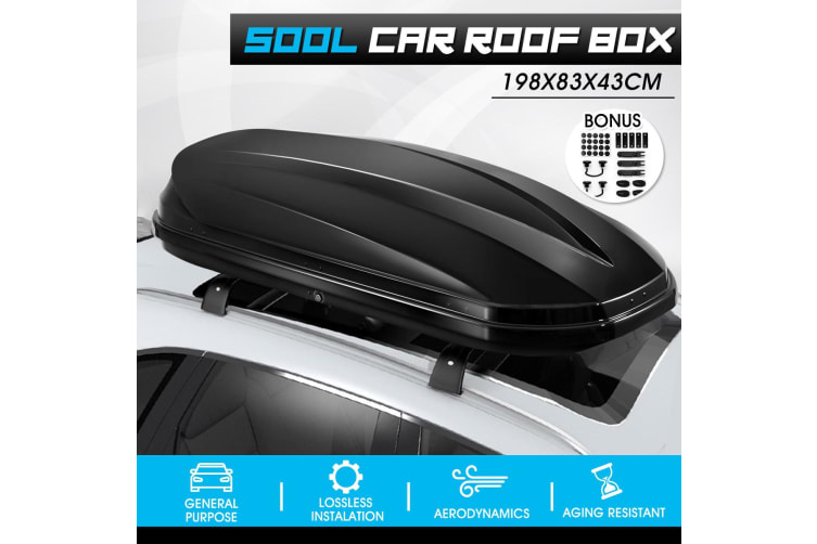 Car Roof Box Pod Luggage Carrier - 500L