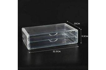 Cosmetic Organizer Clear Acrylic Jewellery Box Makeup Storage Case Drawers  -  B