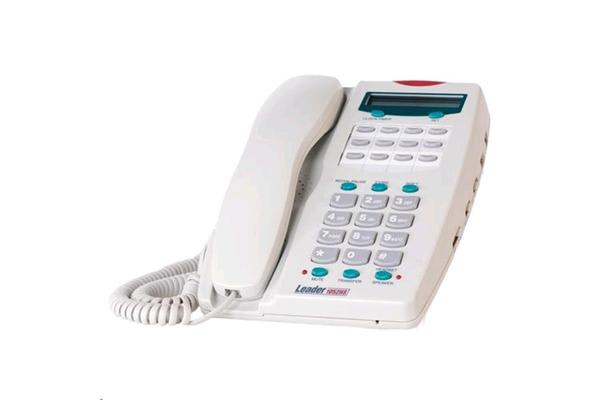 Leader Analogue Telephone with LCD - Grey