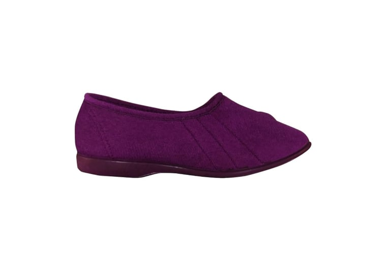 GBS Womens/Ladies Audrey Touch Fasten Slippers (Heather) (2 UK)