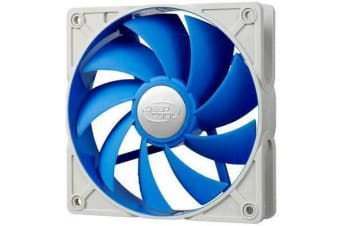 DEEPCOOL UF120 Ultra Silent 120mm x 25mm 2x Ball Bearing Fan with Anti-Vibration Frame Super