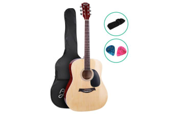 "41"" Inch Acoustic Guitar Classical Wooden Folk Steel String Nature"