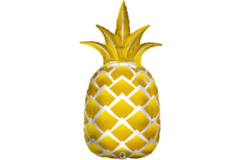 Qualatex 44 Inch Supershape Golden Pineapple Foil Balloon (Gold) (44 inch)