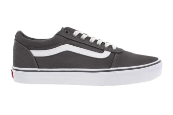 Vans Men's Ward Suede Canvas Shoe (Pewter/True White, Size 7 US)
