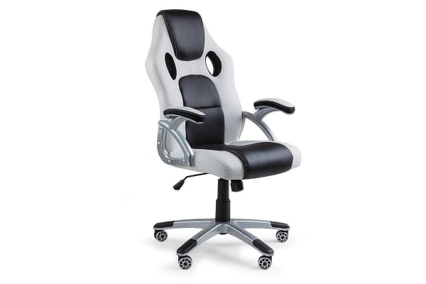 OVERDRIVE Racing Office Chair - Seat Executive Computer Gaming Deluxe PU Leather