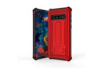 For Samsung Galaxy S10 Case Red Ultra-Thin Shockproof PC+TPU Armour Back Cover