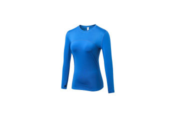 Women'S Compression Tops Long Sleeve Moisture Wicking Workout T-Shirt - Blue Blue M