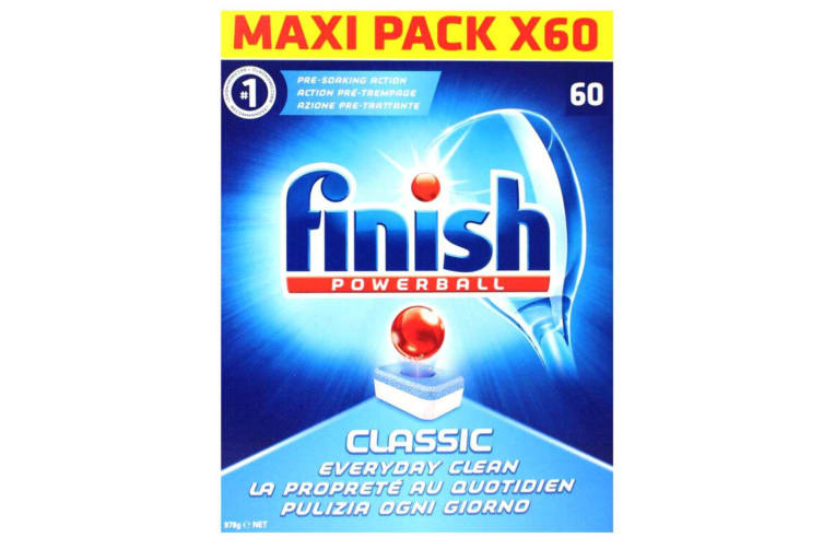 240PK Finish Tabs Classic Powerball Tablets for Dishwasher Dishwashing Detergent
