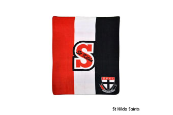 AFL Licensed Polar Fleece Throw St Kilda Saints