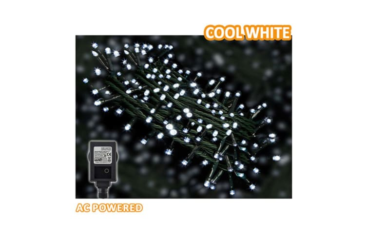3x Sansai AC Power Indoor/Outdoor 30m 300 LED String Lights Party/Christmas WHT
