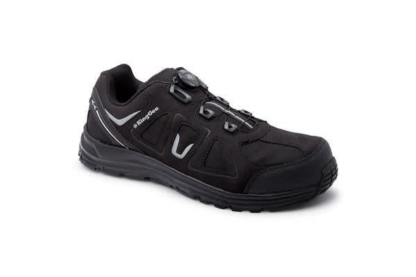 King Gee Comp-Tec BOA Work Shoes (Black, Size 9)