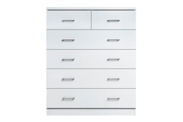 6 Drawer Tallboy (White)