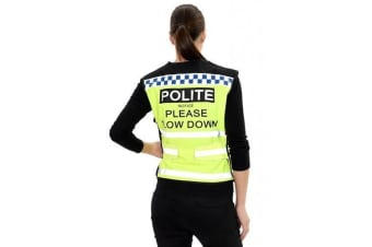 Equisafety Polite Please Slow Down Waistcoat (May Vary)