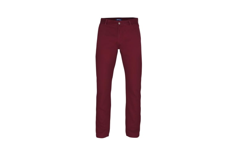 Asquith & Fox Mens Classic Casual Chinos/Trousers (Burgundy) (XLT)
