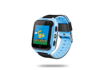 Kids Smart Watch Phone for Children Girls Boys with SIM Card Slot SOS Alarm Suitable for iOS Android Smartphones-Blue