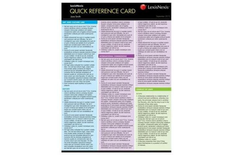 Quick Reference Card - Insolvency Law