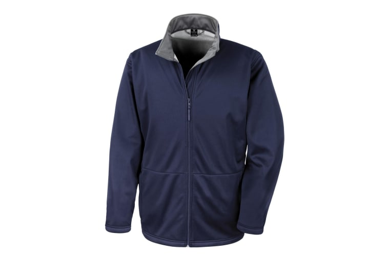 Result Core Mens Soft Shell 3 Layer Waterproof Jacket (Navy Blue) (XL)