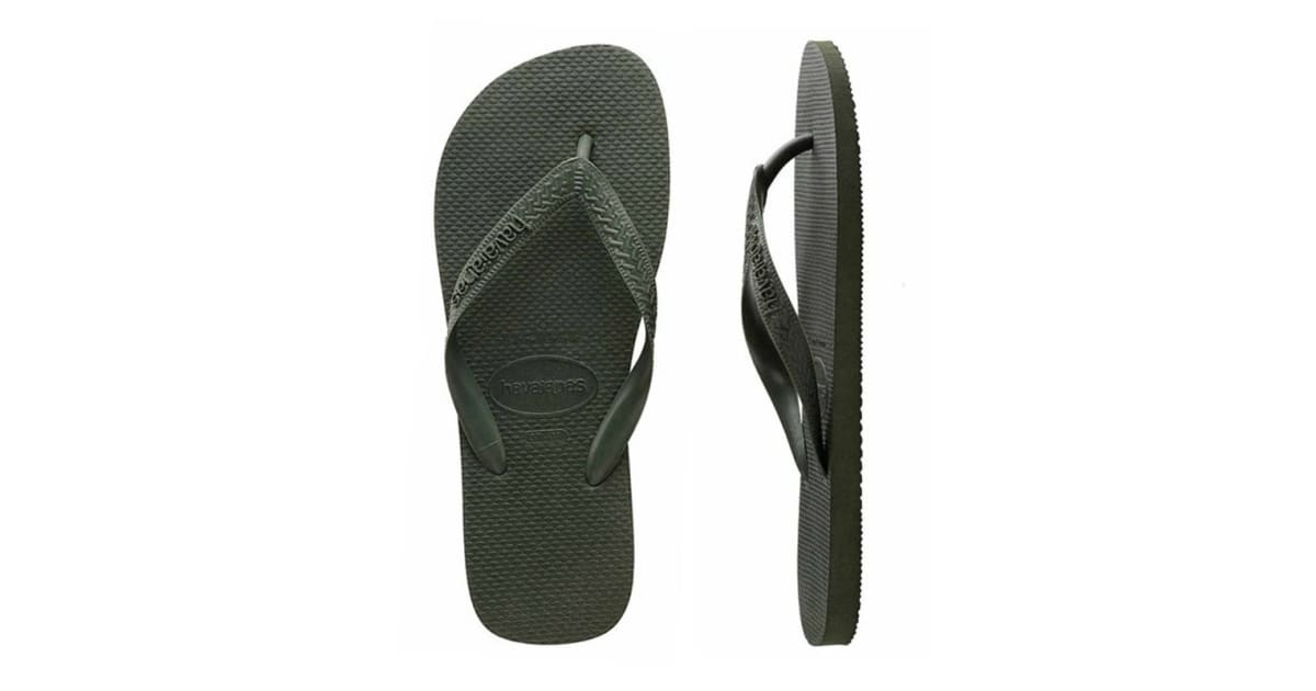 035fe8517996 Havaianas Top Thongs (Green Olive
