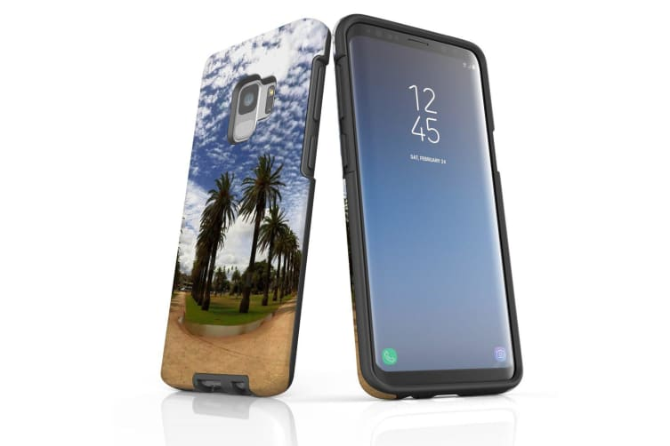 For Samsung Galaxy S9 Case Armour Cover  Palm Walkway Paths