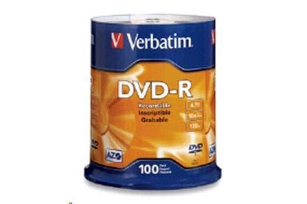 Verbatim DVD-R 4.7GB 100Pk Spindle 16x