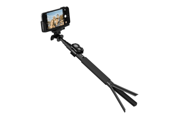 Cygnett Selfie Snap Aluminium Selfie Stick with Bluetooth Button and Tripod (CY1735UNSES)