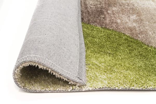 Maria Green Multi Coloured Textured Rug 320x230cm