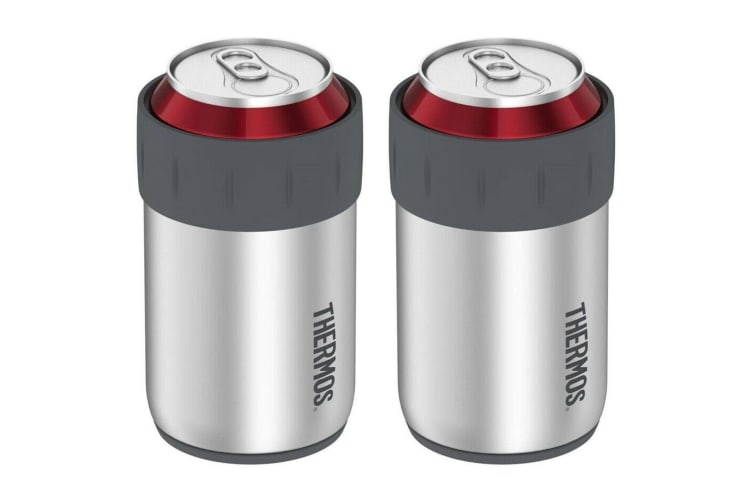2PK Thermos 355ml Stainless Steel Beer Drinks Can Insulator Cooler Stubby Holder